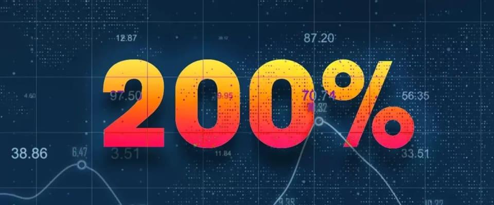 Online casino bonus på 200 %